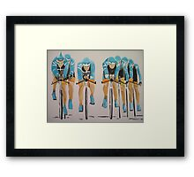 Team Cycle race Framed Print