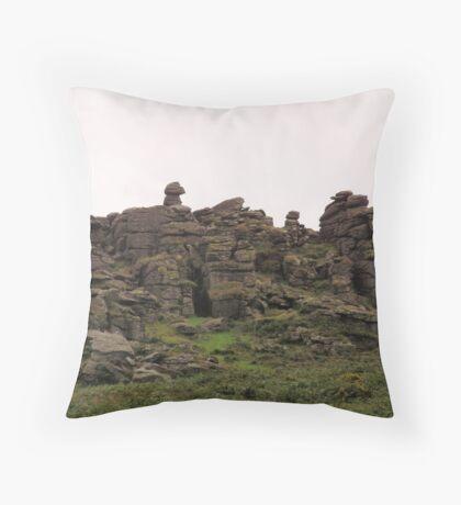 HOUND TOR- DARTMOOR NATIONAL PARK Throw Pillow
