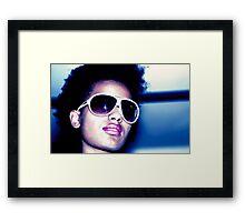 New York Blue Framed Print