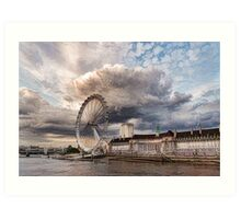 Impressions of London - London Eye Dramatic Skies Art Print