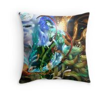 """""""the elements"""" (in collaboration with amorspainter) Throw Pillow"""