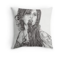 Back to Black Throw Pillow