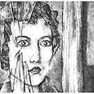 woman with glass by Vanessa DeWig