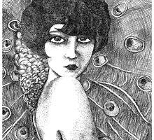 peacock girl by Vanessa DeWig