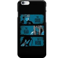 The Good the Bad and the Hero (Blue version) iPhone Case/Skin