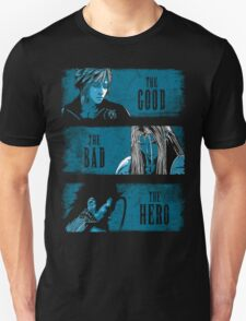 The Good the Bad and the Hero (Blue version) T-Shirt