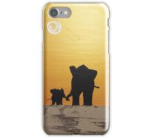 """elephant cute art """"A hand to hold"""" african hand paint original painting original artwork iPhone Case/Skin"""