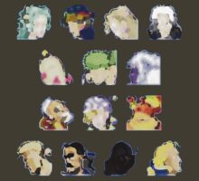 Faces of FFVI Abstract by Justin-Case001