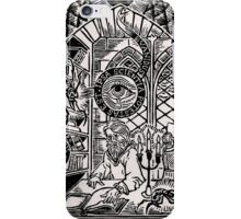 Scarabus bibliophagus Print - Black iPhone Case/Skin