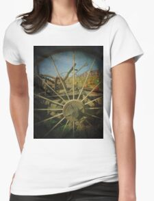 Take a Peek Through The Old Times to Now Womens Fitted T-Shirt