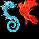 Dragon Vs Phoenix by Steampunkd