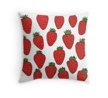 Strawberry Fruit Design Throw Pillow