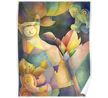 My Quilted Stuffed Animals Poster