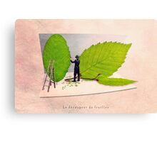 The leave cutter Canvas Print