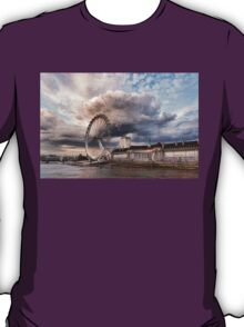Impressions of London - London Eye Dramatic Skies T-Shirt