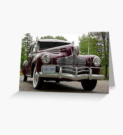 A 1940 Dodge: when cars really were transportation!! Greeting Card
