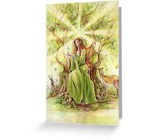 """Lady of the Forest"" Greeting Card"