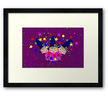 Wizards in Space - Toon Boy 6  Framed Print