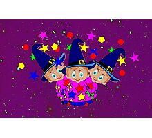 Wizards in Space - Toon Boy 6  Photographic Print