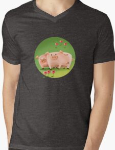 THE PIGS - FARM COLLECTION Mens V-Neck T-Shirt