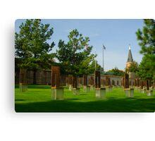 OKC National Memorial-The Survivor Chairs.... Canvas Print