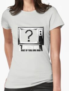 Switch Off [Black/White] Womens Fitted T-Shirt