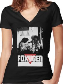 Foxygen Women's Fitted V-Neck T-Shirt