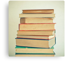 Stack of Books Canvas Print