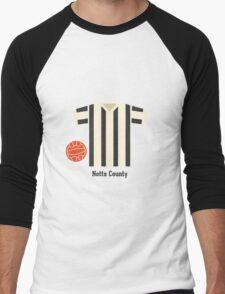 Notts County Men's Baseball ¾ T-Shirt