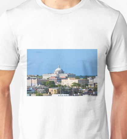 Coastal Buildings in San Juan Unisex T-Shirt