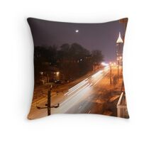North Ave by Night Throw Pillow