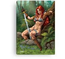 Redhead Warrior. Waiting, resting. Canvas Print