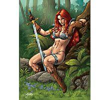 Redhead Warrior. Waiting, resting. Photographic Print
