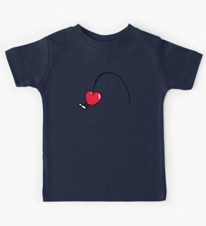 Funny Heart jumps Kids Tee