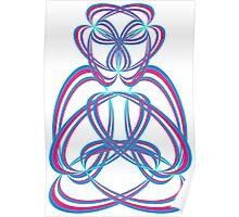 Buda blue/rose Poster