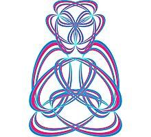 Buda blue/rose Photographic Print