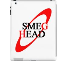 Smeg Head (black font) iPad Case/Skin