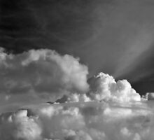 Moon over Clouds by kkeller