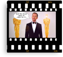 Neil Patrick Harris Oscars Canvas Print