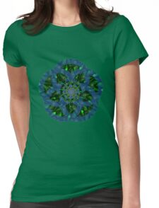 Fractal flower Womens Fitted T-Shirt