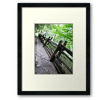 Rickety Fence Framed Print