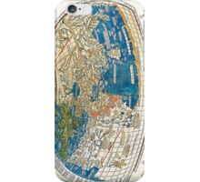 4th edition of Ptolemy's Cosmographia  by Leinhart Holle, dated 1482 iPhone Case/Skin