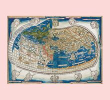 4th edition of Ptolemy's Cosmographia  by Leinhart Holle, dated 1482 Kids Clothes