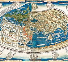 4th edition of Ptolemy's Cosmographia  by Leinhart Holle, dated 1482 by paulrommer