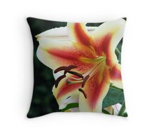 Lily of the Garden Throw Pillow