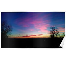 Watercolor twilight on a world of shades. Poster