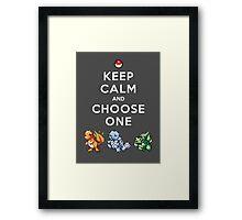 Keep calm and choose one Framed Print
