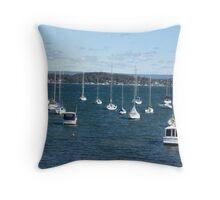 Winter's Day Lake Macquarie Throw Pillow