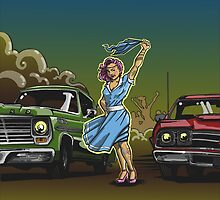 The Gasoline Queen or Race at Twilight by grosvenordesign