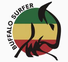 Buffalo Surfer Rasta Circle Text T-Shirt